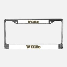 Willie Gold Diamond Bling License Plate Frame