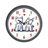 Westie Wall Clocks