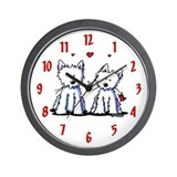 Westie Wall Clocks
