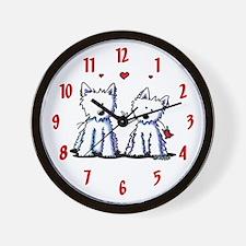 KiniArt Westie Friends Wall Clock