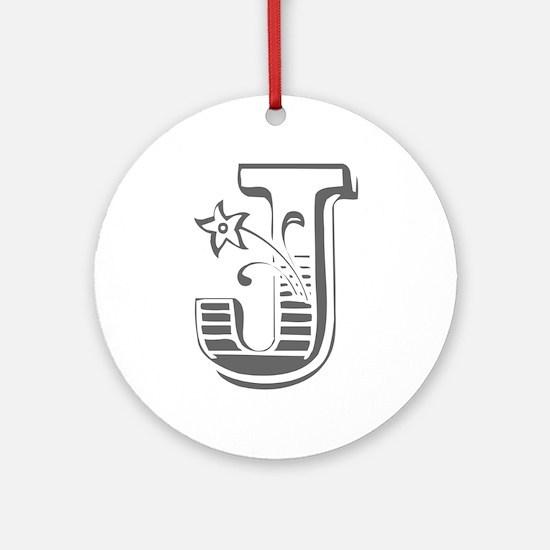 J-Max gray Ornament (Round)