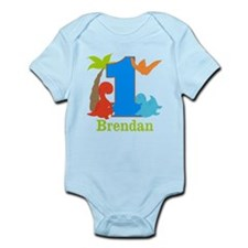 1st Birthday Dinosaur Personalized Body Suit