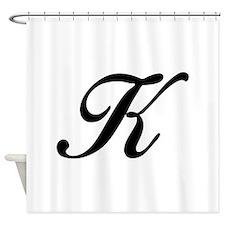 K-Bir black Shower Curtain