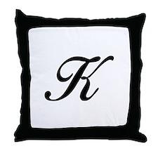 K-Bir black Throw Pillow