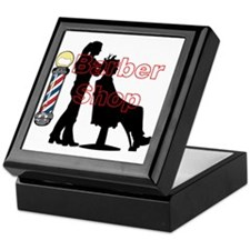 Lady Barber Shop Design Keepsake Box