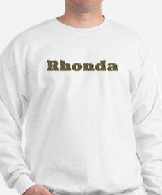 Rhonda Gold Diamond Bling Sweatshirt