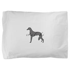 2-greysilhouette2.png Pillow Sham