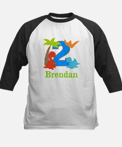 2nd Birthday Dinosaur Personalized Baseball Jersey