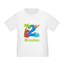 2nd Birthday Dinosaur Personalized T-Shirt