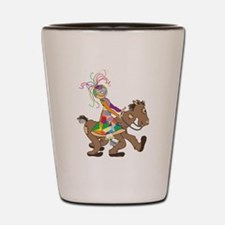 Patch Horse Rider Shot Glass