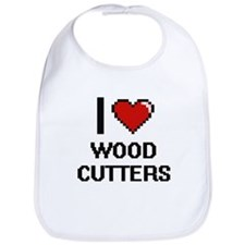 I love Wood Cutters Bib