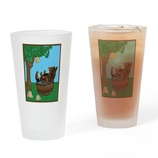 Bear in tub-Honey.png Drinking Glass