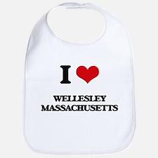 I love Wellesley Massachusetts Bib