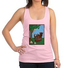 Bear in tub-Honey.png Racerback Tank Top