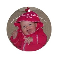 Lilly's First Christmas Ornament