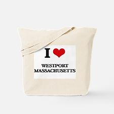 I love Westport Massachusetts Tote Bag