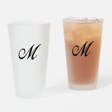 M-Bir black Drinking Glass