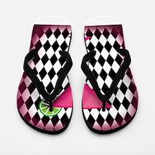 Pink Martini Black Cream Flip Flops