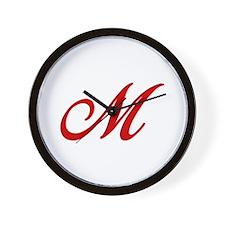 M-Bir red2 Wall Clock