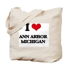 I love Ann Arbor Michigan Tote Bag