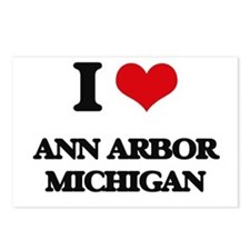 I love Ann Arbor Michigan Postcards (Package of 8)