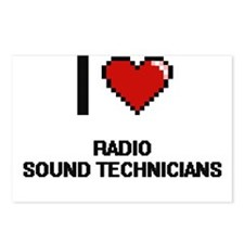 I love Radio Sound Techni Postcards (Package of 8)