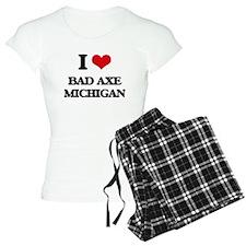 I love Bad Axe Michigan Pajamas