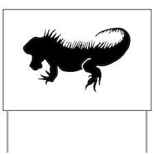 Iguana Silhouette Yard Sign