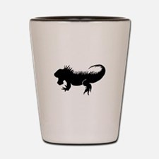 Iguana Silhouette Shot Glass