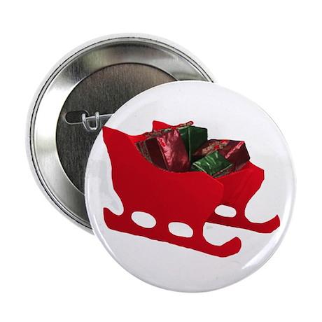 Santa's Sleigh Button