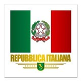 Italy flag Square Car Magnets