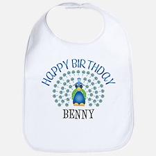 Happy Birthday BENNY (peacock Bib