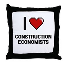 I love Construction Economists Throw Pillow
