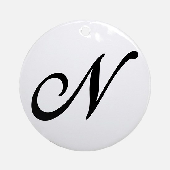 N-Bir black Ornament (Round)