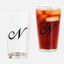 N-Bir black Drinking Glass