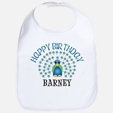 Happy Birthday BARNEY (peacoc Bib