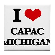 I love Capac Michigan Tile Coaster