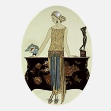 Vintage 1920s Woman Ornament (Oval)