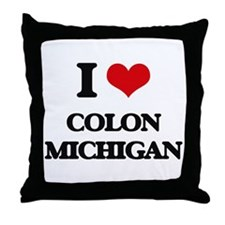 I love Colon Michigan Throw Pillow
