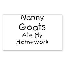 Nanny Goats ate my Homework Rectangle Decal