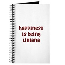 happiness is being Lilliana Journal