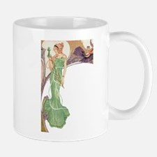 Woman in Green Dress Mug