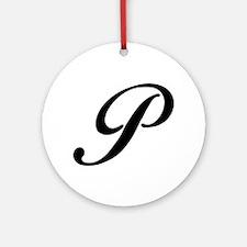 P-Bir black Ornament (Round)