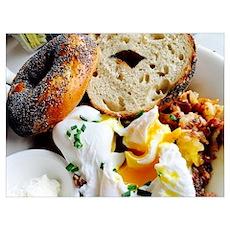Bagel & Eggs Poster