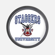 STAGGERS University Wall Clock