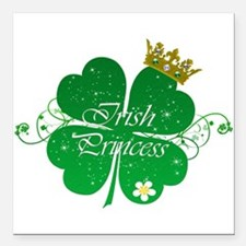 "Irish Princess Square Car Magnet 3"" x 3"""