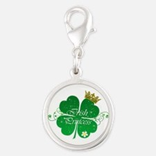 Irish Princess Silver Round Charm