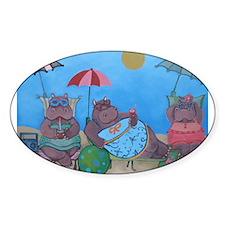 Cute Hippo Decal