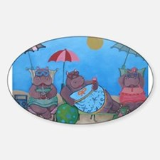 Cute Hippos Decal