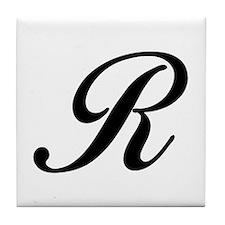 R-Bir black Tile Coaster